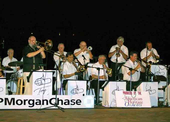 Photo: The Tony Salvatori Big Band as evening sets in