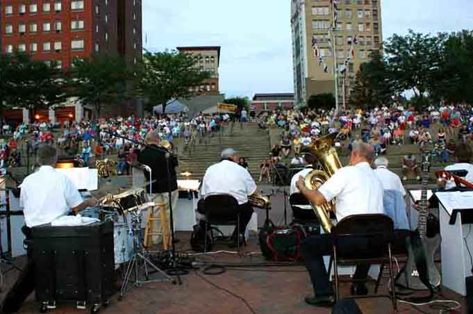 Photo:  The Tony Salvatori Big Band's view of the audience
